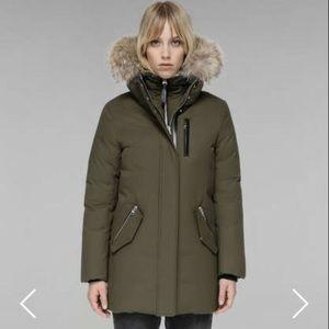 MACKAGE Small down parka fur collar green jacket